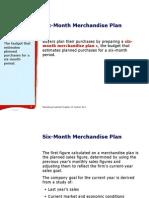 Six-Month Merchandise Plan