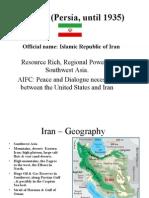 Iran - Persia Pace Presentation