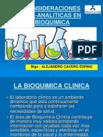 Consideraciones Preanaliticas en Bioquimica