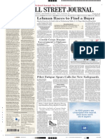 WSJ Front Page Sept 12, 2008