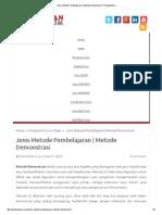 Jenis Metode Pembelajaran _ Metode Demonstrasi _ PanduanGuru