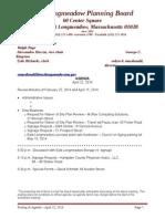 East Longmeadow Planning Board 4/22