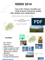 Frits Ogg the Windturbines of St Helena - Benefits and Impacts Balancing of Power and Power Quality With Medium Size Windturbines Ddefww