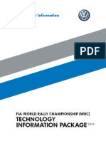 Volkswagen FIA World Rally Championship Technology Information Package 2014