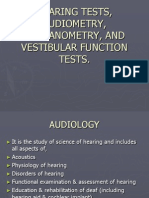 Ent Hearing Tests,Vestibular Tests