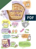Boncake Aux Pruneaux Et Aux Noix
