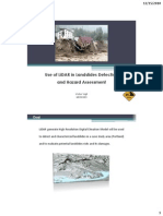 Use of LiDAR in Landslides Detection and Hazard