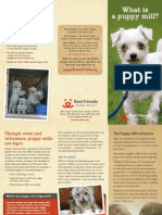 what is puppy mill brochure
