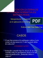 Justificación externa Interpretación y Dogmática (JCSC)