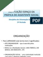 Instituição Espaço Da Prática Do Assistente Social