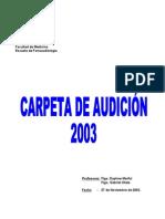 Carpeta Audición (Gran Resumen de Todo UV 2003)