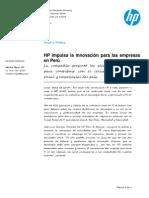 HP impulsa innovación a las empresas del Perú