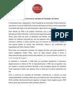 Comunicado do Movimento Sintrenses com Marco Almeida sobre a renúncia de Pedro Pinto, do PSD