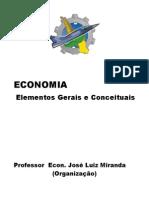 Economia Elementos Gerais e Conceituais