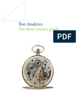 Text Analytics - The Three-Minute Guide