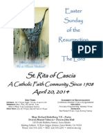 St. Rita Parish Bulletin 4/20/2014