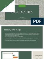 e-cigarettes presentation