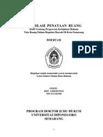 LEGISLASI PENATAAN RUANG Studi Tentang Pergeseran Kebijakan Hukum Tata Ruang Dalam Regulasi Daerah Di Kota Semarang