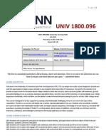 UNIV 1800 Syllabus - International Student Section