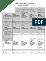 econ assignment calendar