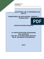 Módulo de Capacitación Docente - Voto Electrónico