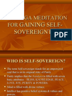 RAJAYOGA MEDITATION FOR GAINING SELF-SOVEREIGNTY