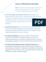 banks dimensions of multicultural education
