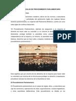 Normas y Reglas de Procedimiento Parlamentario 2012