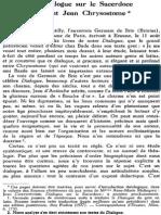 Henri de Lubac - Le Dialogue Sur Le Sacerdoce de Saint Jean Chrysostome. 1978.