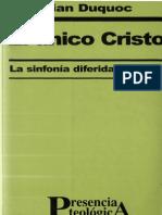 DUQUOC, Christian - El Único Cristo - 128 Pag