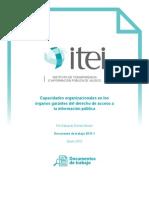 Capacidades Organizacionales en Los Órganos Garantes Del Derecho de Acceso a La Información Pública - Estuardo Gómez Morán