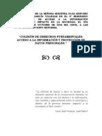 Colisión de Derechos Fundamentales Acceso a La Información y Protección de Datos Personales