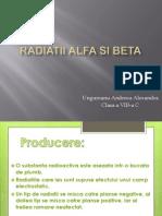 Radiatii Alfa Si Beta