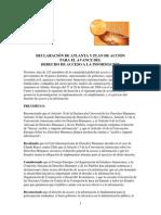 Declaración de Atlanta y Plan de Acción Para El Avance Del Derecho de Acceso a La Información
