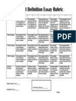 extendeddefinition rubric
