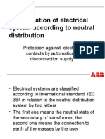 Classification of Electrical System According to Neutral Distribution