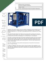 ABRV90 Airblast Vacuum Recovery System VRS Series