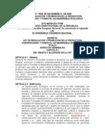 Bol Ley 3525 06 Produccion AgroyForestal