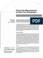 portal vein measurements by real time sonography