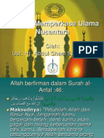 Towards  Strengthening of Muslim Scholars in Asian Archipalego (Nusantara). Authored by - Ustaz Abdul Ghani Shamsudin