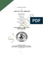 Report on RC aeroplane
