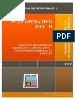 Plan Operativo 2013 - 2 Seguridad de Locales