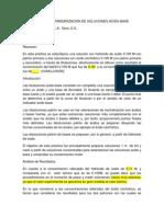 Preparacion y Estandarizacion de Soluciones Acido-base