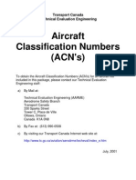 ACN's Tables - Aircrafts Classification Numbers