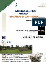 Analisis de Costo Clase u 1-Y-2 Marzo PDF