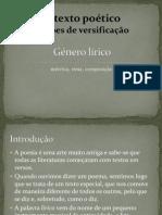 Texto Lírico - Noções de Versificação