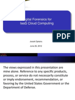 Digital Forensics for Iaas Cloud Computing