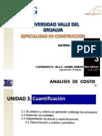 Analisis de Costo Clase u 3 Marzo 2014