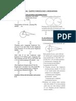 Latihan Soal Garis Singgung Lingkaran