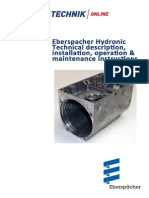 Eberspacher Hydronic B4WSC Technical Overview Document and Instructions